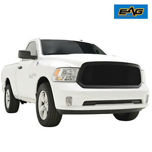 Eag Fit 13 18 Dodge Ram 1500 Mesh Grille Abs Upper Black Packaged Replacement