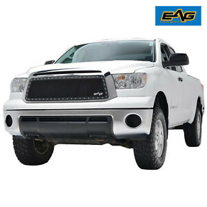 Eag Fits 2010 2013 Toyota Tundra Grille Rivet Black Steel Wire Mesh Insert