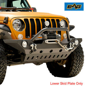 Eag Front Bumper Skid Plate Guard Fit For 18 21 Jeep Jl Wrangler Unlimited