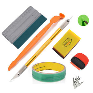 Car Wrap Application Tools Squeegee Knifeless Tape Kit For Window Tint Install