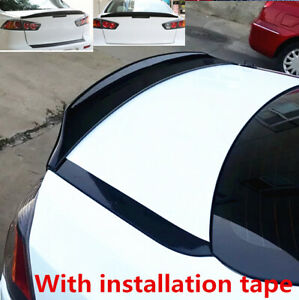 Fit For Mitsubishi Lancer 08 17 Sedan Factorystyle Glossblack Trunk Spoiler Wing