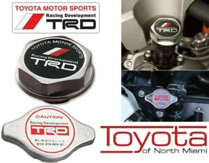 Toyota Trd Oil Radiator Cap Forged Billet Aluminum Genuine Oem