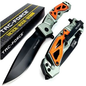 8.5quot; TAC FORCE Rescue Folding Pocket Knife Spring Assisted Open Tactical Blade $14.95