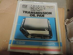 Triple Chrome Plated Steel Transmission Oil Pan Gm Turbo 400