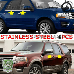 For 2003 2017 Ford Expedition Chrome Stainless Steel Window Sills