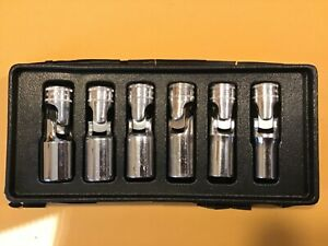 Snap On 6 Pc 3 8 Dr 6 pt Metric Flank Drive Deep Universal Socket Set fre Shp