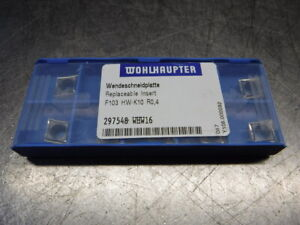 Wohlhaupter Carbide Inserts Qty10 F103 Hw k10 R0 4 Whw16 loc1397a