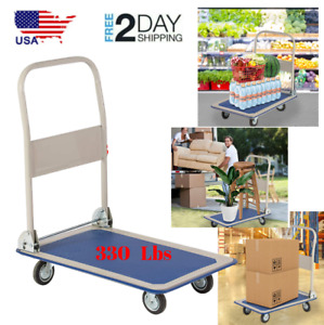 Heavy Duty Platform Flatbed Cart Dolly Folding Moving Rolling Push Hand Truck