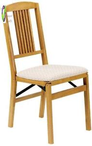 Stakmore Simple Mission Folding Chair Finish Set Of 2 Oak