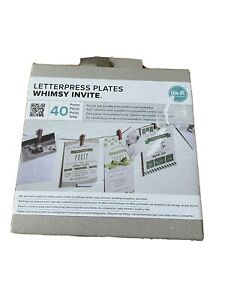 We R Memory Keepers Letterpress Plates Whimsy Invite 40 Piece Set New