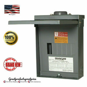 Square D 100 amp 12 circuit 6 space Outdoor Main Lug Load Center Panel Box