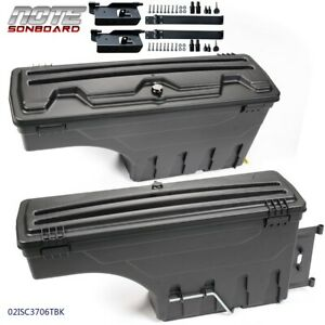 For 02 18 Dodge Ram 1500 2500 3500 Left Right Truck Bed Storage Box Tool Box