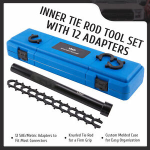 Master Inner Tie Rod Removal And Installation Tool Set With 12 Crowfoot Adapters