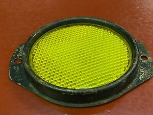 Vintage Chevrolet Gmc Fender Reflector Ac Super Reflex Amber Glass Signal Light