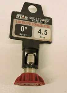 Northstar Pressure Washer Quick Couple Spray Nozzle 4 5 Size 0 Degree Spray