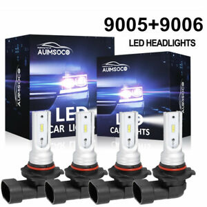 For Gmc Sierra 1500 2500hd 1999 2006 Combo Led Headlight Kit Bulbs High Low Beam