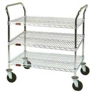 Eagle Group Eu3 2436z Utility Cart 500 Lb Capacity 24 w X 40 h Number Of