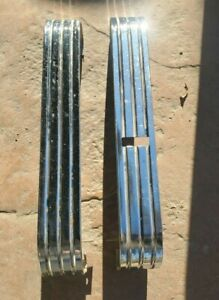 1950 Studebaker Champion Chrome Front Seat Side Trim Pair Left Right
