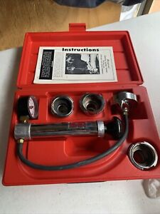 Snap On Svts262 Cooling System Pressure Tester With Adapters And Case