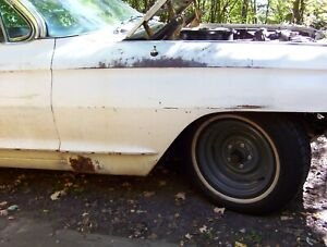 1961 1962 Cadillac Front Fenders Pair Right Left Used Repairable