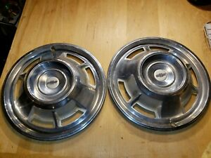 2 Vintage 1967 Chevrolet Chevy Camaro 14 Hubcaps Wheel Covers Center Caps