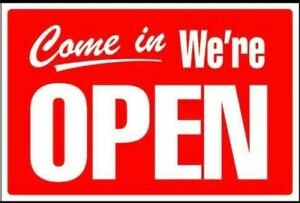 open And closed Sign 12x18 Customized Available