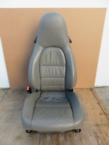 2002 2004 Porsche 911 Carrera Front Left Driver Side Seat Leather Gray Oem