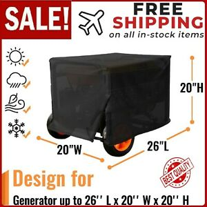 Large Portable Generator Cover Generac Gp5500 6500e Duromax Xp4400e 10000e