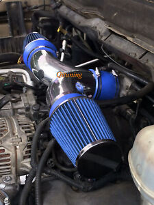 Blue Dual Twin Air Intake Kit Filter For 2003 Dodge Dakota Durango 3 7l 4 7l