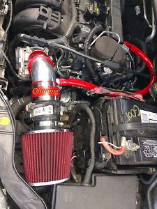 Red Air Intake System Kit Filter For 2012 2014 Ford Focus 2 0l L4 Non Turbo