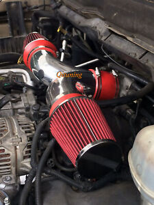 Red Dual Twin Air Intake Kit Filter For 1999 2004 Jeep Grand Cherokee 47l V8