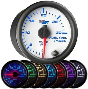 Glowshift White 7 Color Psi Fuel Rail Pressure Gauge Gs W719 Glow Shift