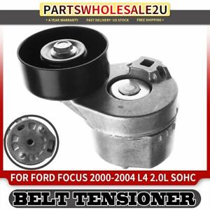 Belt Tensioner Assembly With Pulley For Ford Focus 2000 2001 2004 L4 2 0l Sohc