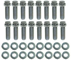 Bb Chevy Chrome 12pt Intake Manifold Bolt 16pc Kit 3 8 16 X 1 1 4 Bbc 9835
