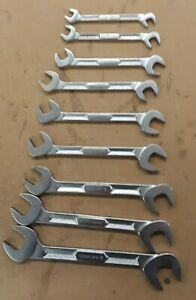 Lot Of 9 Snap On Angle Head Wrenches Vs5228 Vs5226 Vs5222 Vs5220 Vs5216 Ex Cond