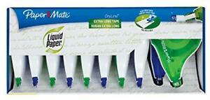 Paper Mate Liquid Paper Dryline Extra Long Tape Assorted Colors 10 Count