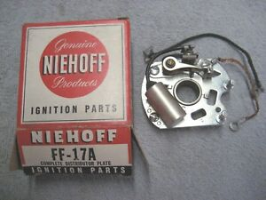 New Ball Bearing Breaker Plate Assy Niehoff Ff 17a Ford Mercury Lincoln V 8