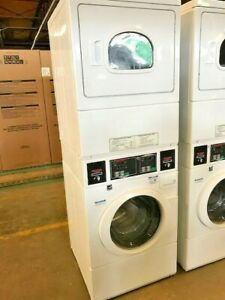 Stey77 Speed Queen Heavy Duty Electric Stack Commercial Washer dryer Combo