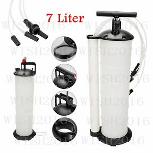7l Fluid Evacuator Manual Oil Changer Vacuum Hand Operated Extractor Pump Tank