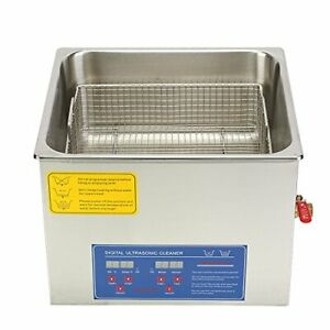 Hfs Commercial Grade Digital Ultrasonic Cleaner Stainless Steel 15l Capacity