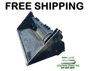 Es New 72 4 in 1 Bucket Skid Steer Quick Attach Free Shipping