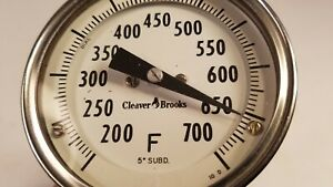 Cleaver Brooks Temp Gauge Thermometer Boiler Steam Punk 700 Degress F C4