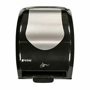 San Jamar T8370bkss Summit Hybrid Electronic Roll Towel Dispenser Black stainle