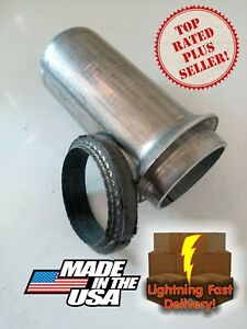 2 Donut Gasket With Exhaust Pipe Kit Repair End Sb Chevy Ford Gmc Collector