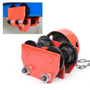 New Monorail Push Beam Trolley Hoist Winch Crane Lift Track With Chain Beams 1t