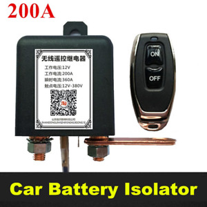 Car Battery Cut off Disconnect Switch Wireless Remotely Power Master Kill Switch