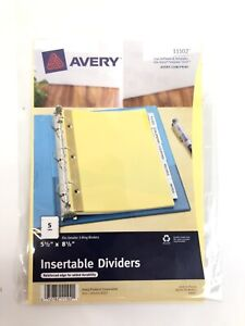 Avery Insertable Dividers 11102 5 5 X 8 5