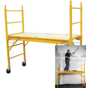 Multipurpose Scaffolding 6 Feet 1000 Pound Capacity Stackable Yellow Brand New