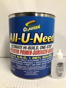 All u need Clausen Gallon High Build Red Polyester Primer surfacer sealer