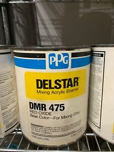 Ppg Refinish Delstar 1 Gallon Red Oxide Paint Tint Toner Dmr475